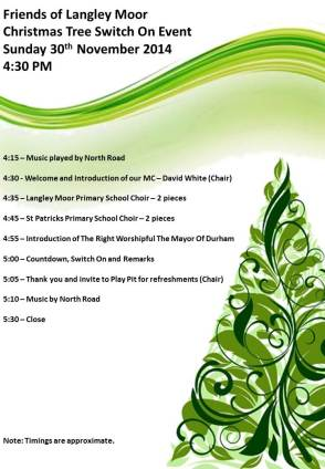 Christmas Tree Event Program FOLM